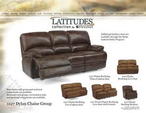 Recliner Sofa With Chaise Flexsteel Latitudes 1127 Dylan Chaise Reclining Sofa Group