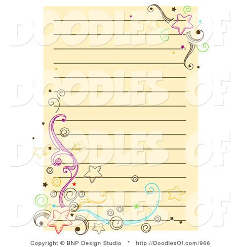 doodle notepad vector doodle of yellow notepad paper with and