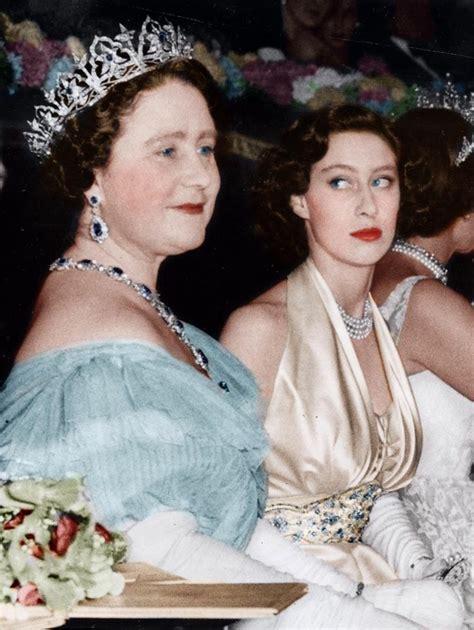 film queen and princess margaret queen mother and princess margaret september 1951
