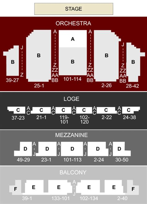 golden gate theater seating golden gate theatre san francisco ca seating chart