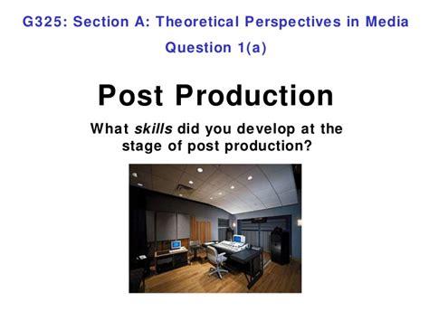 question 1a post production
