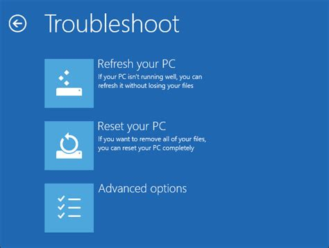 hp resetting your pc 1 how to restore refresh or reset your windows 8 installation