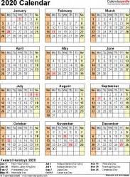calendar  printable microsoft word templates