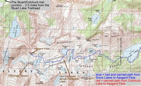 enchantments trail map website design by roger gervin backpack past colchuck
