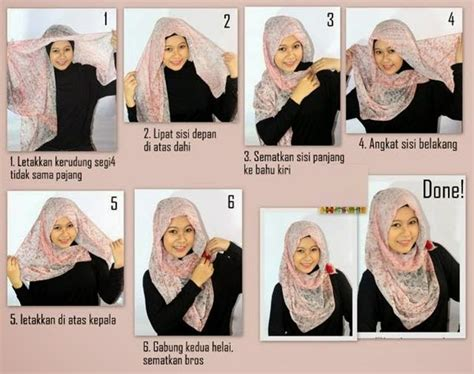 tutorial jilbab pita 8 cara memakai jilbab pashmina wajah bulat 2017