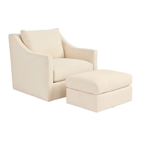 swivel chairs with ottoman sutton upholstered swivel chair ottoman ballard designs