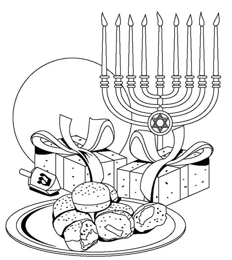 Free Hanukkah Coloring Pages Coloring Home Dreidel Coloring Pages Free