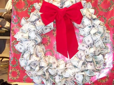 money wreath christmas pinterest wreaths  money