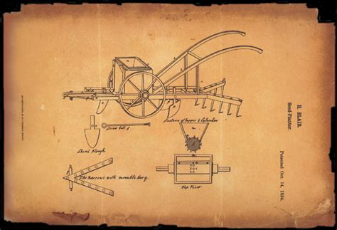 Henry Blair Corn Planter by B H M Henry Blair 1807 1860 Fingertip Swag