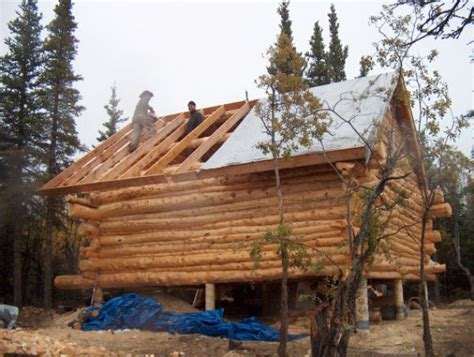 Cabin Roof Construction by Building A Log Cabin The Gables And The Roof Construction
