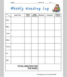 4th grade reading log template weekly reading log template 5th grade free graphic