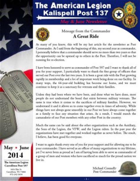 American Legion Newsletter Template Newsletter 171 American Legion Kalispell