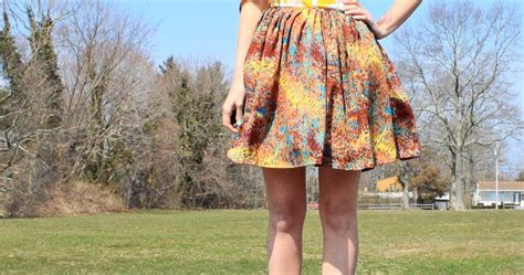 diy swing skirt diy gathered high waist skirt gina michele