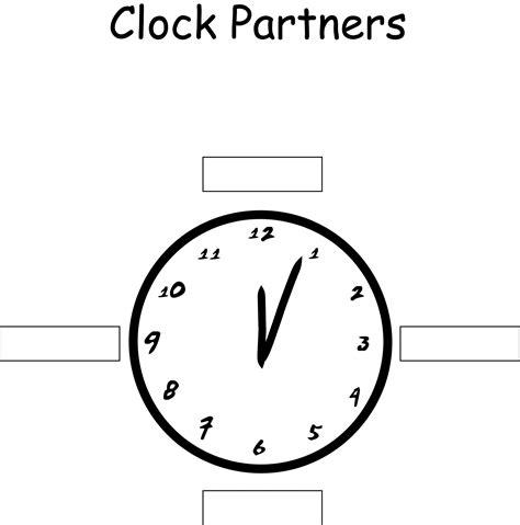 printable clock partners clock partners mistercooke s teaching blog