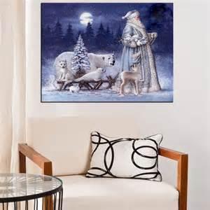 home decor santa 40x30cm 5d diamond painting christmas santa animal snow