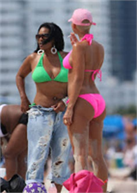 lil amber illegal alessandra new candids of amber rose from miami beach