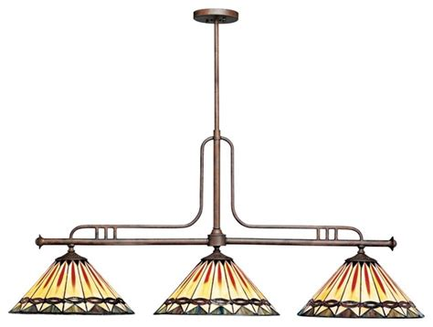 Mission Style Island Lighting Arts And Crafts Mission Kichler Style Glass 3 Light Island Chandelier Modern