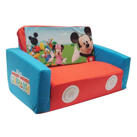 mickey mouse couch bed mickey mouse clubhouse flip open sofa with slumber