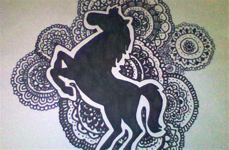 imagenes zentagle art zentangle y doodle art dibujo de un caballo horse drawing