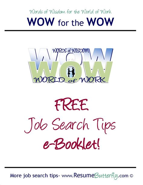 Wow Search Wow For The Wow Search Skills Resume Butterfly Free Ebooklet Resume