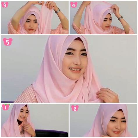 tutorial hijab pashmina simple bahan sifon tutorial hijab pashmina sifon simple untuk wajah bulat