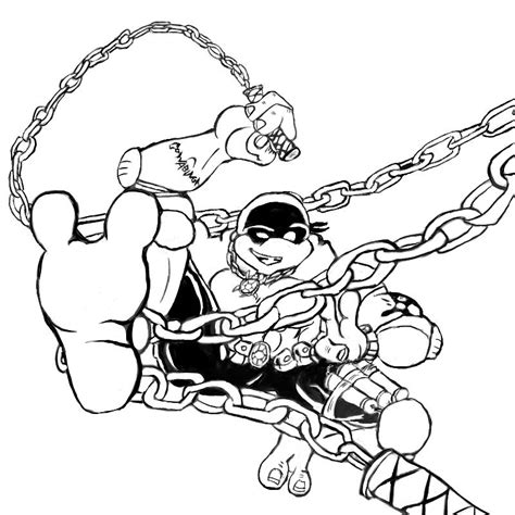 Michelangelo Ninja Turtle Coloring Page Michelangelo Coloring Pages