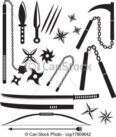 vecteur eps de ninja arme ensembles suitable pour