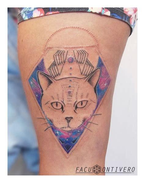 tattoo cat model geometric tattoo cosmic cat geometric tattoo