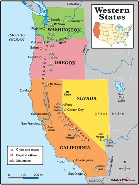 map usa western states western states map by maps from maps world s