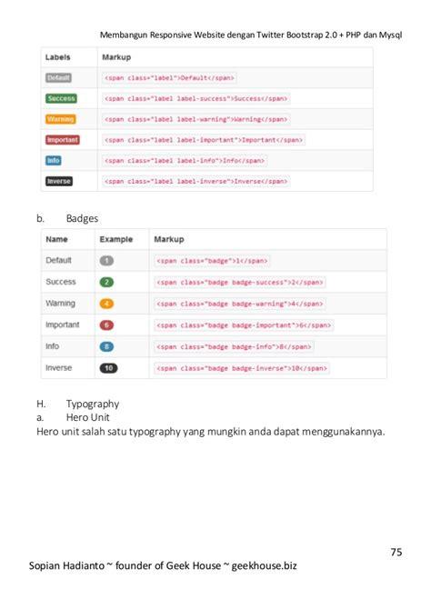 Mudah Membangun Web Profil Multibahasa Cd membangun responsive website dengan bootstrap 2 0 php dan m