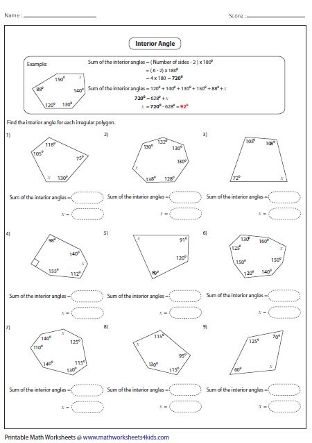 geometry angle relationships worksheets abitlikethis