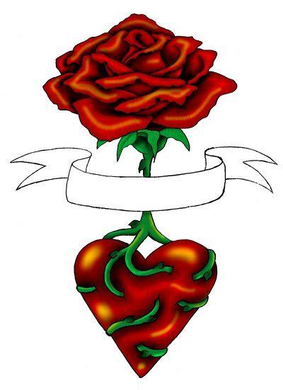 rose heart tattoo by annikki on deviantart