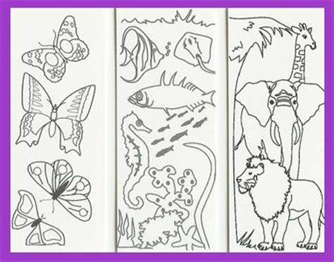 printable animal bookmarks to color magnetic bookmarks bookmarks and coloring pages on pinterest