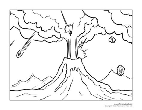 Printable Coloring Pages Volcanoes | printable volcano coloring pages coloring home