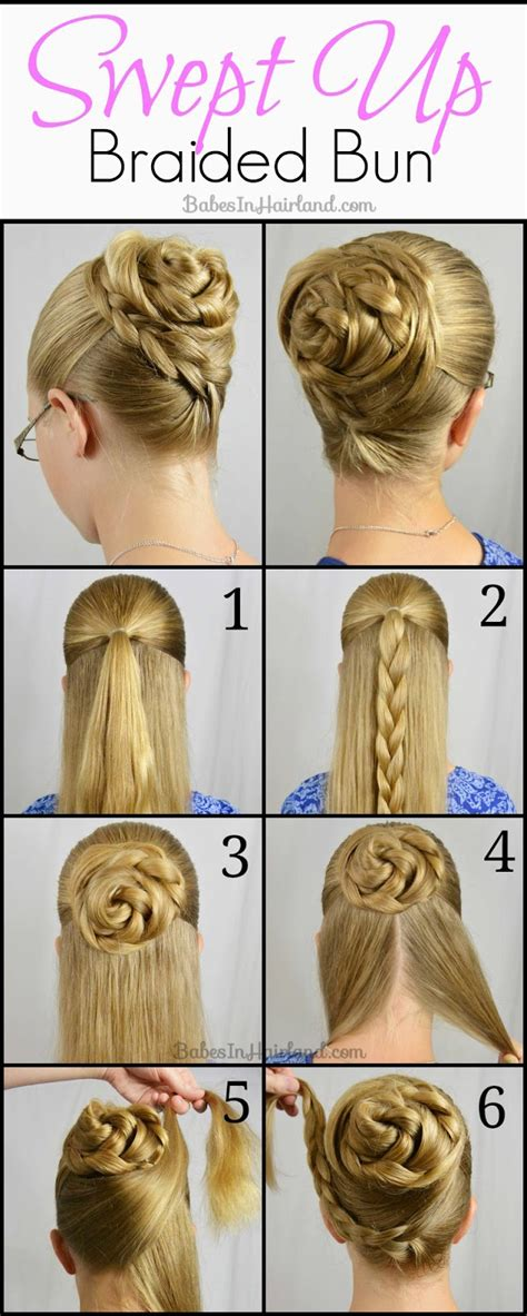 hairstyles buns tutorials braided rose bun hairstyle tutorial