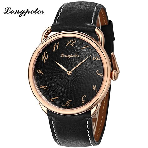 longpeter expensive black sapphire mirror watches