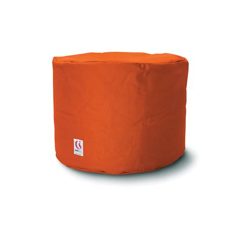 round red ottoman ottoman round red indosoul touch of modern