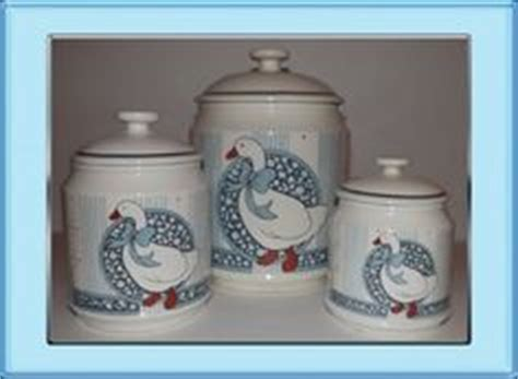 kitchen canister set of 3 featuring white ducks in tin vintage 80 s country geese goose duck ceramic kitchen