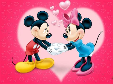 valentines mickey mouse minnie mickey mouse vector