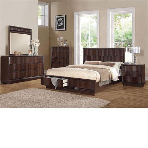 acme furniture bedroom set in walnut finish ac01720aset dreamfurniture com travell walnut finish bedroom set