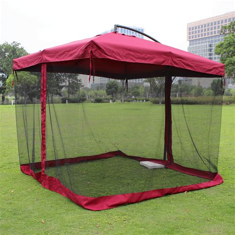 Patio Umbrella Mosquito Net Outdoor Umbrellas Large Umbrella Square Patio Mesh Mosquito Nets Sun In Patio Umbrellas Bases