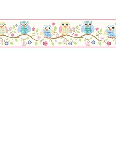 printable stationery owls 1000 images about bordes y car 225 tulas on pinterest kids