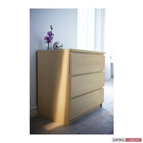 ikea malm dresser price canada ikea malm 3 dresser drawer coalharboursale list4all
