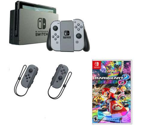 Nintendo Switch Gray Con nintendo switch w gray con mario kart 8 controllers