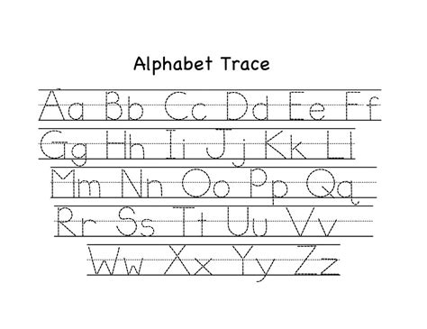 alphabet tracing worksheets a z printable loving printable