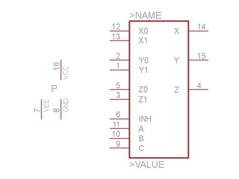 Analog Multiplexer Cd4053 Mux 4053 digital ic lexikon www jb electronics de