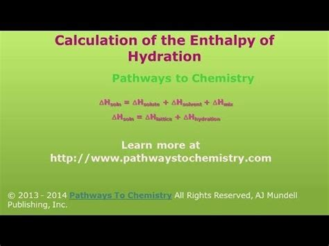 hydration enthalpy trend chemistry enthalpy of hydration