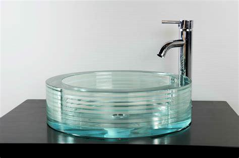 Designer Bathrooms Gallery by Round Glass Vessel Bath Sink Gs 112 Sinks Gallery