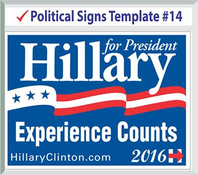 political yard sign template political yard signs templates
