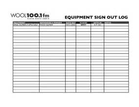 Sign Out Log Template by Best Photos Of Equipment Sign Out Template Equipment